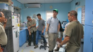 Kit, Alex, Zack and Paul - awaiting snake delivery in the hospital